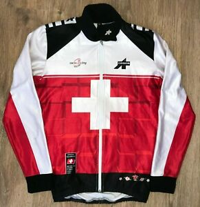 Assos Swiss Federation Switzerland RARE long sleeve cycling jersey jacket size S