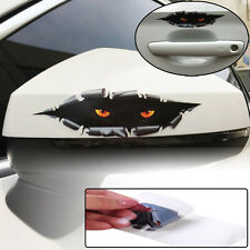 Car Auto Window 3D Creative Sticker Simulation Monster Leopard Eye Peeking Decal