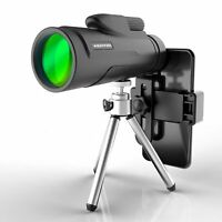 Monocular Telescope 12X50 High Power BAK-4 Prism with Tripods and Phone Holder