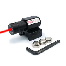 Viseur Red Dot Point Rouge Laser Pour Airsoft Chasse Tir Piles Incluses 11-20mm