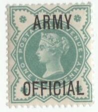 QV 1896.. ARMY OFFICIAL 1/2d  BLUE/GREEN MINT FULL GUM....S.G.042