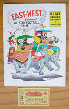 Vintage 1947 East West Shrine All-Star Football Program & Ticket, Kezar Stadium