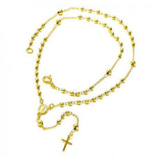 BEAUTIFUL ROSARY NECKLACE MIRACULOUS 18K GOLD OVER SILVER!!!