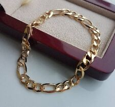 XL GENUINE  CHUNKY Solid 9ct Gold Bracelet gf,OVER 300 SOLD, ALMOST SOLD OUT 065