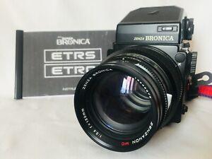 ZENZA BRONICA ETRS Metered Prism Finder 1:3,6 f=150mm Lens and 120 roll back