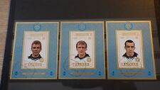 3x Bloc Sheet AJMAN Football Libuda Overath Hottges imperf. Cachet MNH**