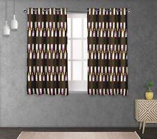 S4sassy Bottle Double Panel Window Treatment Curtain -BR-504B
