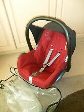MAXI COSI CABRIOFIX RED  BABY UNISEX CARSEAT 0-13KG REAR FACE NEWBORN SUN HOOD