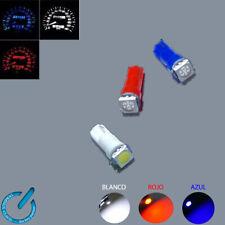 5x LED Bombilla T5 5050 1 smd Dashboard DC 12V indicador lampara luz lamp bulb