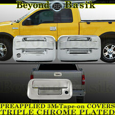 2004-2008 F150 Chrome Door Handles (W/OPSK W/OKP 2Dr) TOP Mirror Tailgate Covers