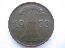 Germany 1933-E 1 Reichspfennig, GVF.