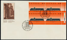 Canada 1182 BR Plate Block on FDC - McAdam Railway Station