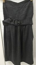 Tokito Size 10 Grey Stretch Strapless Fitted  Business Party Dress NWOT