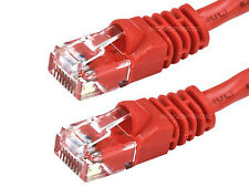 7ft 24AWG Cat6 500MHz Crossover Ethernet Bare Copper Network Cable - Red  2379