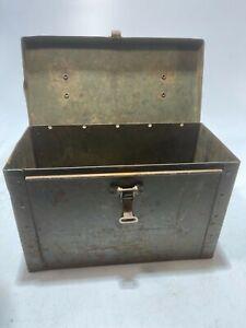 Vintage Metal Ammunition Ammo Box