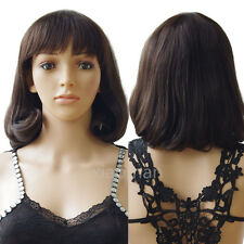 7A Brazilian Human Hair Full Wig Short Pixie Hair Dip Dyed Breathable Daily Wigs