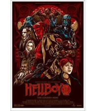 Ken Taylor Hellboy II - Mondo Print Poster Guillermo Del Toro