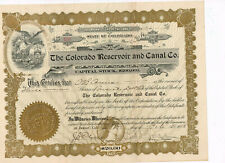 The Colorado Reservoir and Canal Co., 1912, Colorado, nice, VF