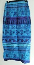 WOMENS/GIRLS WRAP ROUND BLUE AZTEC SKIRT - S/M - NEW