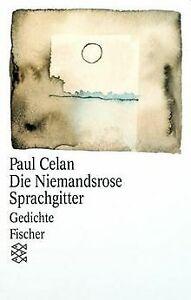 Die Niemandsrose / Sprachgitter: Gedichte von Celan, Paul   Buch   Zustand gut