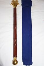 Grand Lodge Director of Cermonies Baton with Cloth Pouch FREE DELIVERY (SPECIAL)