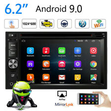Android 9.0 Car Radio Stereo In Dash Double 2Din 6.2inch DVD/CD  Player Vedio