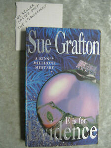 E Is For Evidence - Sue Grafton OzSellerFasterPost!