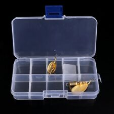 10 Slots Compartments Fishing Hook Bait Lure Storage Box Tackle Container Case