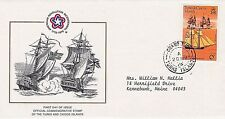 TURKS & CAICOS 1976 FIRST DAY COVER - AMERICAN BICENTENNIAL - SHIPS - SCHOONER