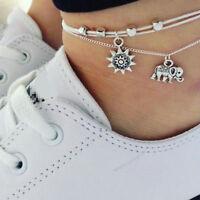 Stylish Women Silver Boho Ankle Bracelet Foot Feet Jewelry Chain Beach Hot 2018