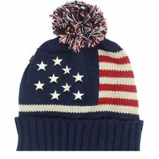 Lot Knit American Flag Stars Stripe USA Patriotic Beanie Pom Ski Cap Hat