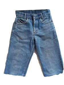 Vintage Boys Levis Cutoff Jeans Size 25, Waist 12