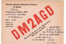 Y344 Carte QSL Radio Amateur Opérateur DM2AGD en Allemagne DDR a TELTOW BERLIN