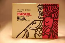 EL AL Vintage Plastic Coated Playing Cards from 40 Yr Collection, Set of 2 MOD