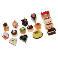 16pcs Miniature Kitchen Food Resin Jam Cake Model for 1/12 Scale Dollhouse Decor