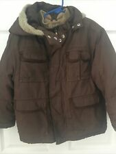 Guc Gymboree S Boys Jacket With Removable Hood & Liner Brown