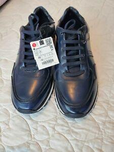 ZARA Men's Sneakers Casual Sport Shoes US 7 Navy Blue NWT