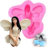 3D Fairy Angel Elf Silicone Fondant Mold Cake Chocolate Icing Sugarcraft Mould-