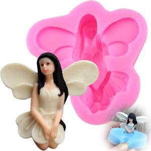 3D Fairy Angel Elf Silicone Fondant Mold Cake Chocolate IcingSugarcraft MouldXG