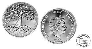 Niue 2 Dollars Baum des Lebens Tree of Life 2021 1 oz 999 Silber / AG