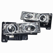Projector Headlights for 1988-1999 Chevrolet Truck and SUV - Chrome/Clear