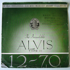 Alvis 12/70 Type II Large-Format Pre-War Car Sales Brochure Dec 1938