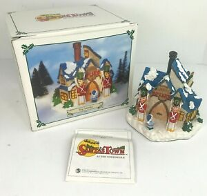 Vintage 1995 Santa's Town at the North Pole Toy Works Christmas Elves Soldiers