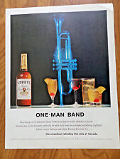 1961 Corby's Whiskey Ad     One-Man Band