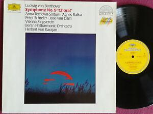 """LP KARAJAN - BEETHOVEN """"SYMPHONY Nr. 9 """"Choral"""", DGG 415 832-1, Digit. Remast."""