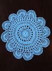 "Handmade large white vintage doilie doily doiley crochet round 13"" 33cm"