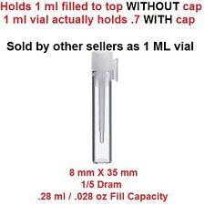 50 Lot 8X35 8 X 35 Empty Sample Glass Vials Vial Bottle Perfume Fragrance Sample