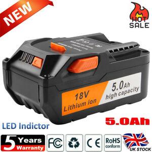 5AH 18V Li-ion Battery For AEG M1830R L1830R L1815R B1820R B1814G Ridgid R840083
