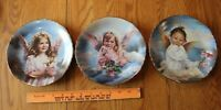 3 RECO Precious Angel Collectors Plates Angel of Laughter Grace & Peace Vintage