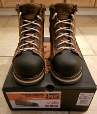 """Timberland Gridwork Pro Boots 6"""" Men 7.5 Brown Leather Soft Toe TB0A1B4L214 work"""
